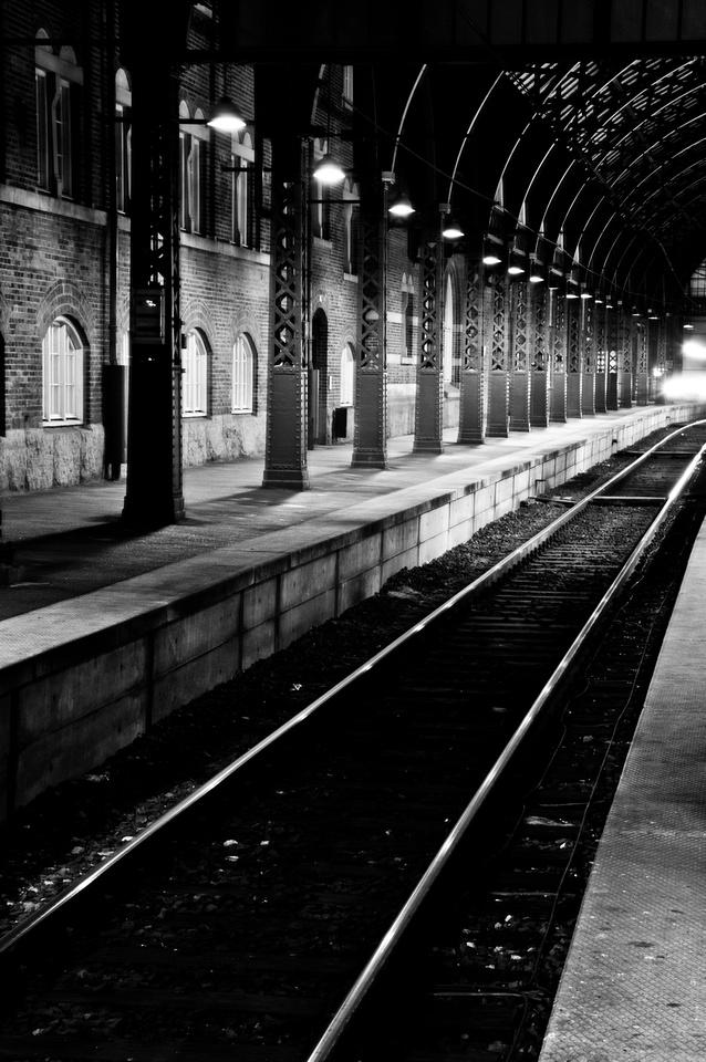 Tracks at Copenhagen train station