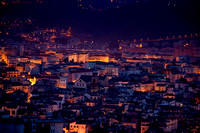 city of Salerno Italy at night