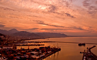 Ancient City of Salerno Italy at sunrise 4