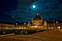 Copenhagen train station Night image 2