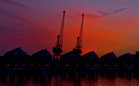 Dockland London red crane