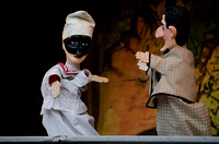 Antique hand puppets on stage 6