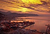 Ancient City of Salerno Italy at sunrise 8